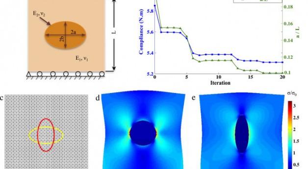A gradient-based shape optimization scheme using an interface-enriched generalized FEM